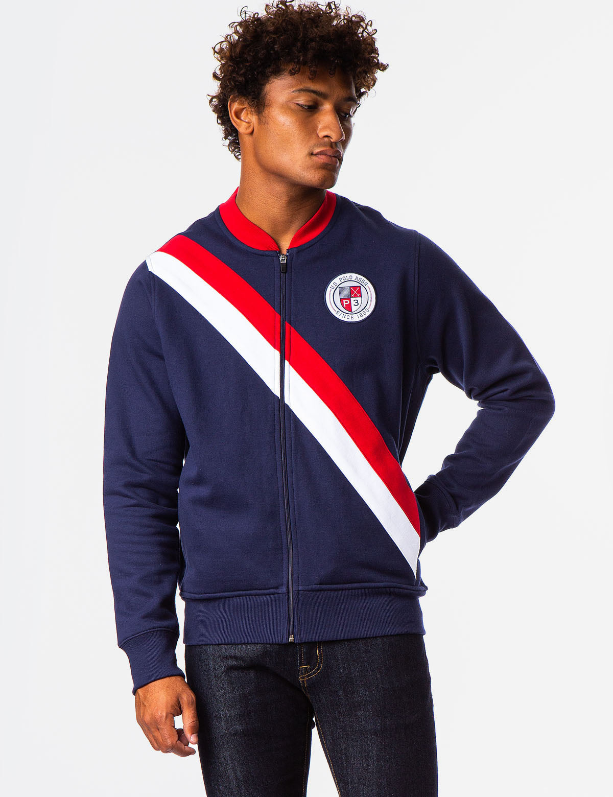 COLORBLOCK USA FLEECE BOMBER JACKET - U.S. Polo Assn.