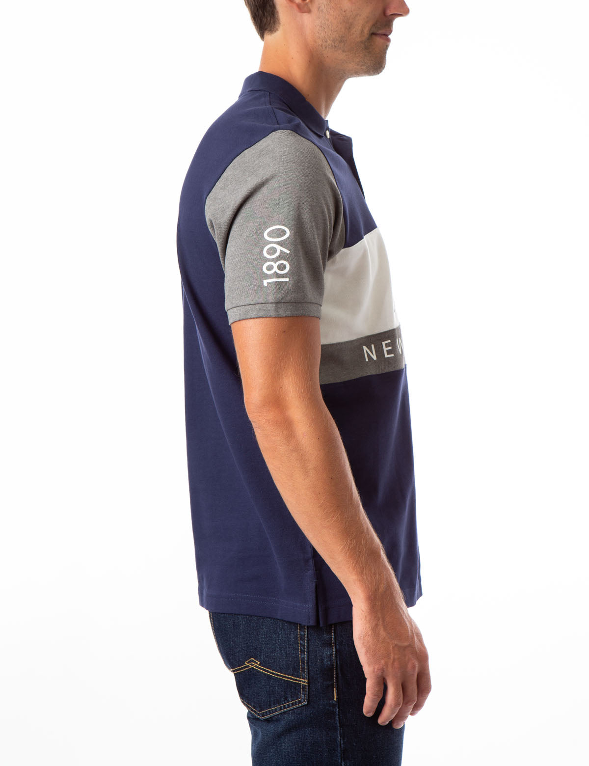NYC COLORBLOCK CHEST STRIPE POLO SHIRT - U.S. Polo Assn.