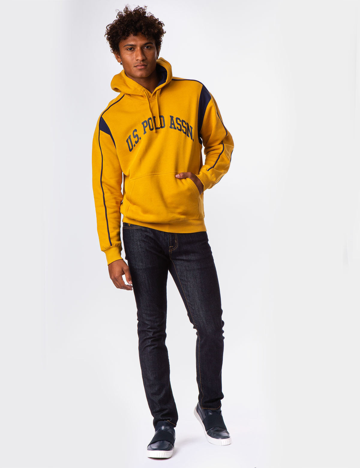 SHOULDER PIPING LOGO HOODIE - U.S. Polo Assn.