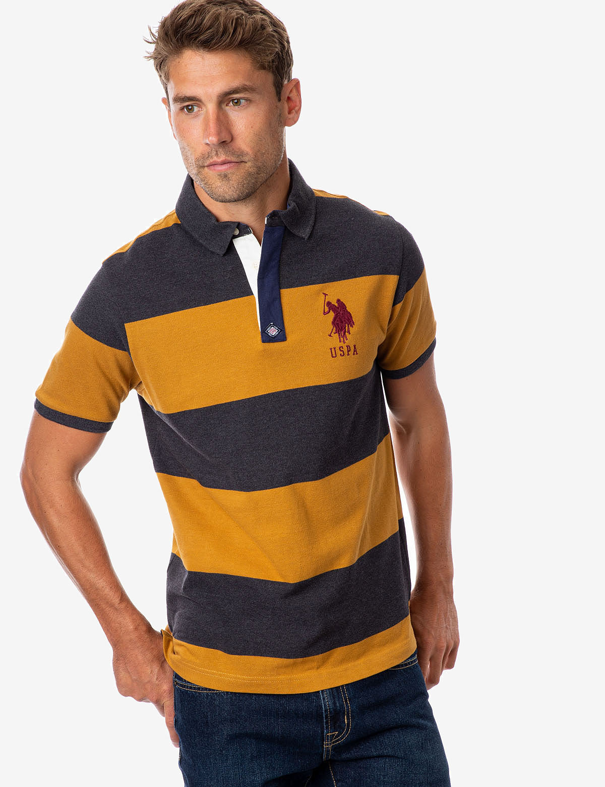 RUGBY STRIPE POLO SHIRT - U.S. Polo Assn.