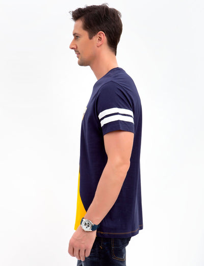 PATCH CREW DIAGONAL TEE