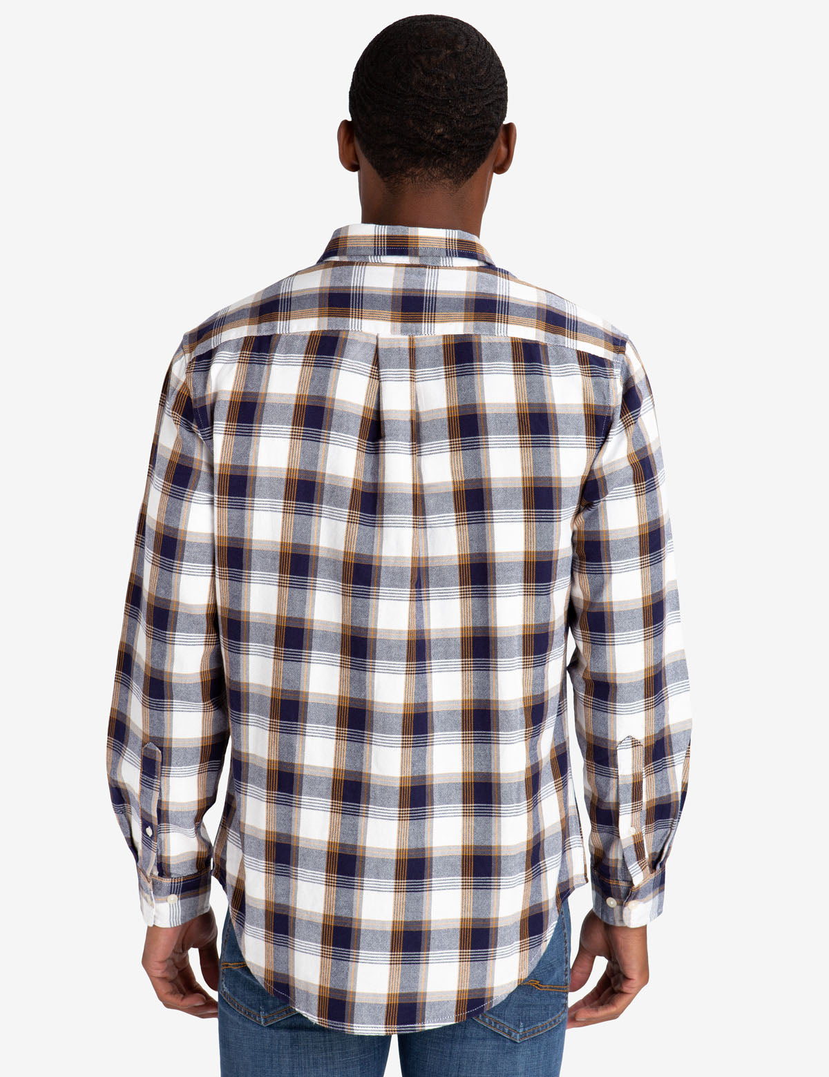 BLACK MALLET CLASSIC FIT HEATHER PLAID OXFORD SHIRT - U.S. Polo Assn.