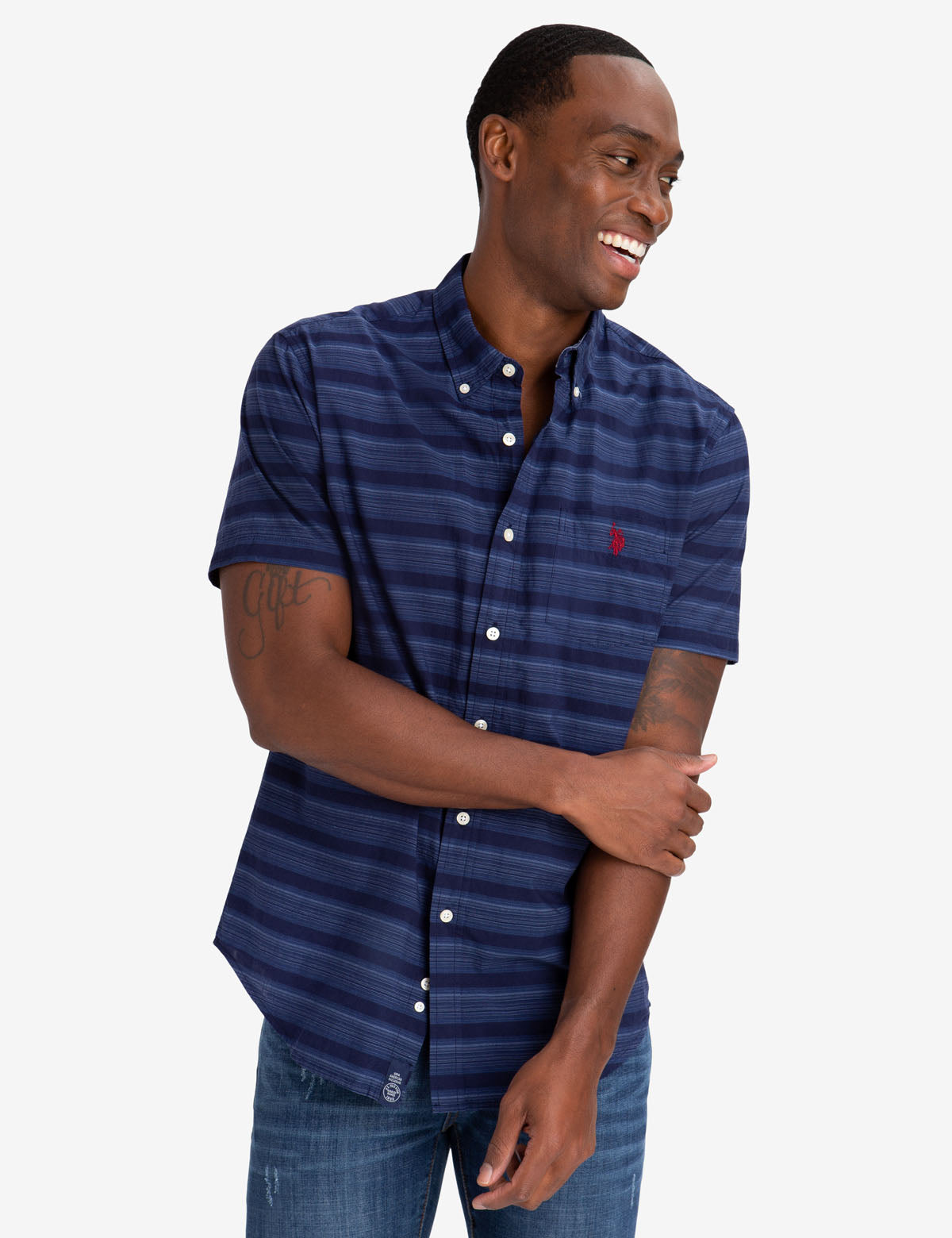 DOBBY STRIPED SHIRT - U.S. Polo Assn.
