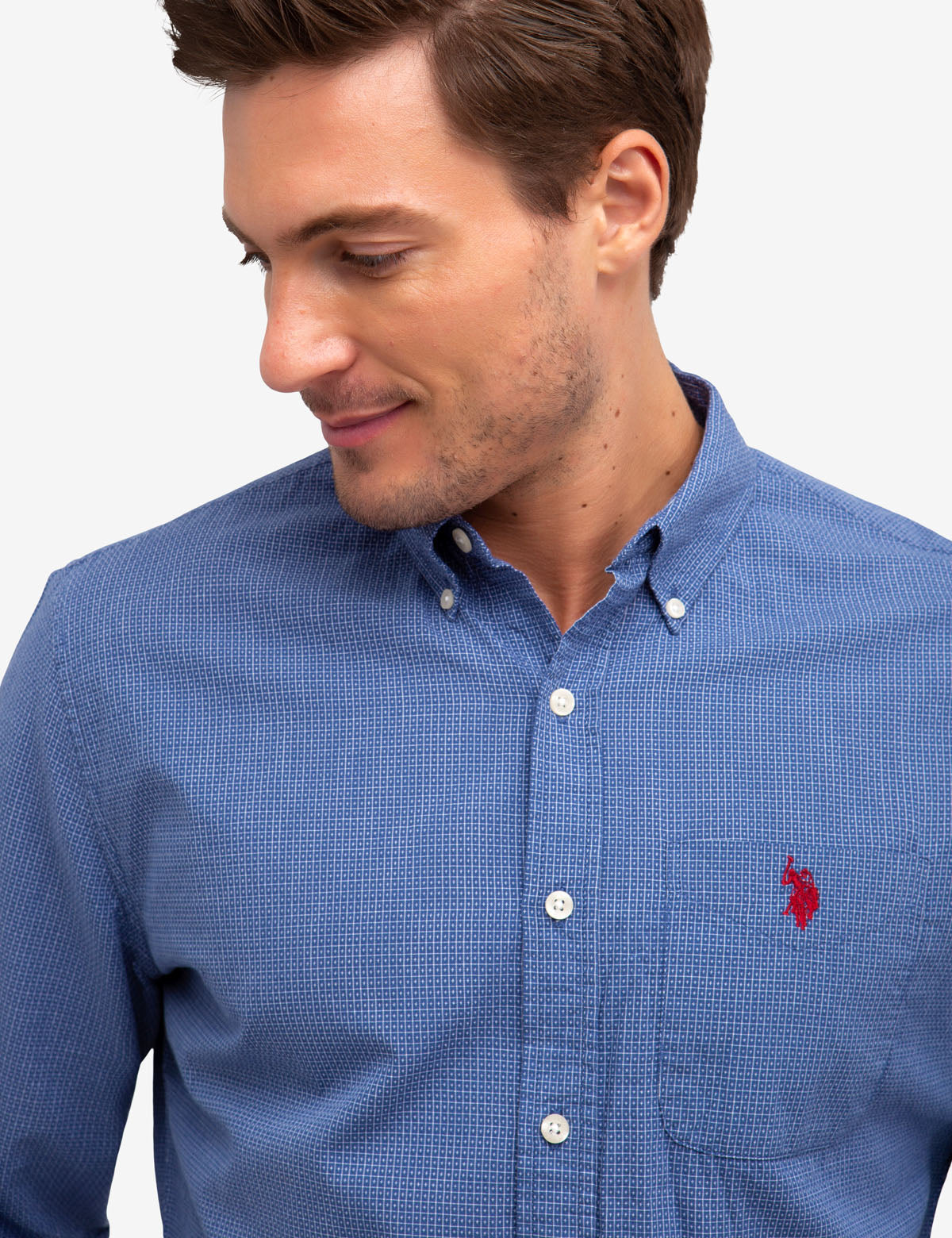 NO-TUCK DOBBY TEXTURED SHIRT - U.S. Polo Assn.