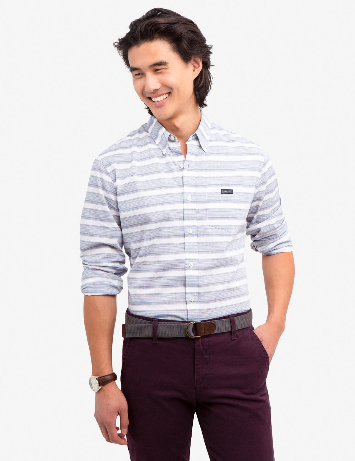 HORIZONTAL DOBBY SHIRT - U.S. Polo Assn.