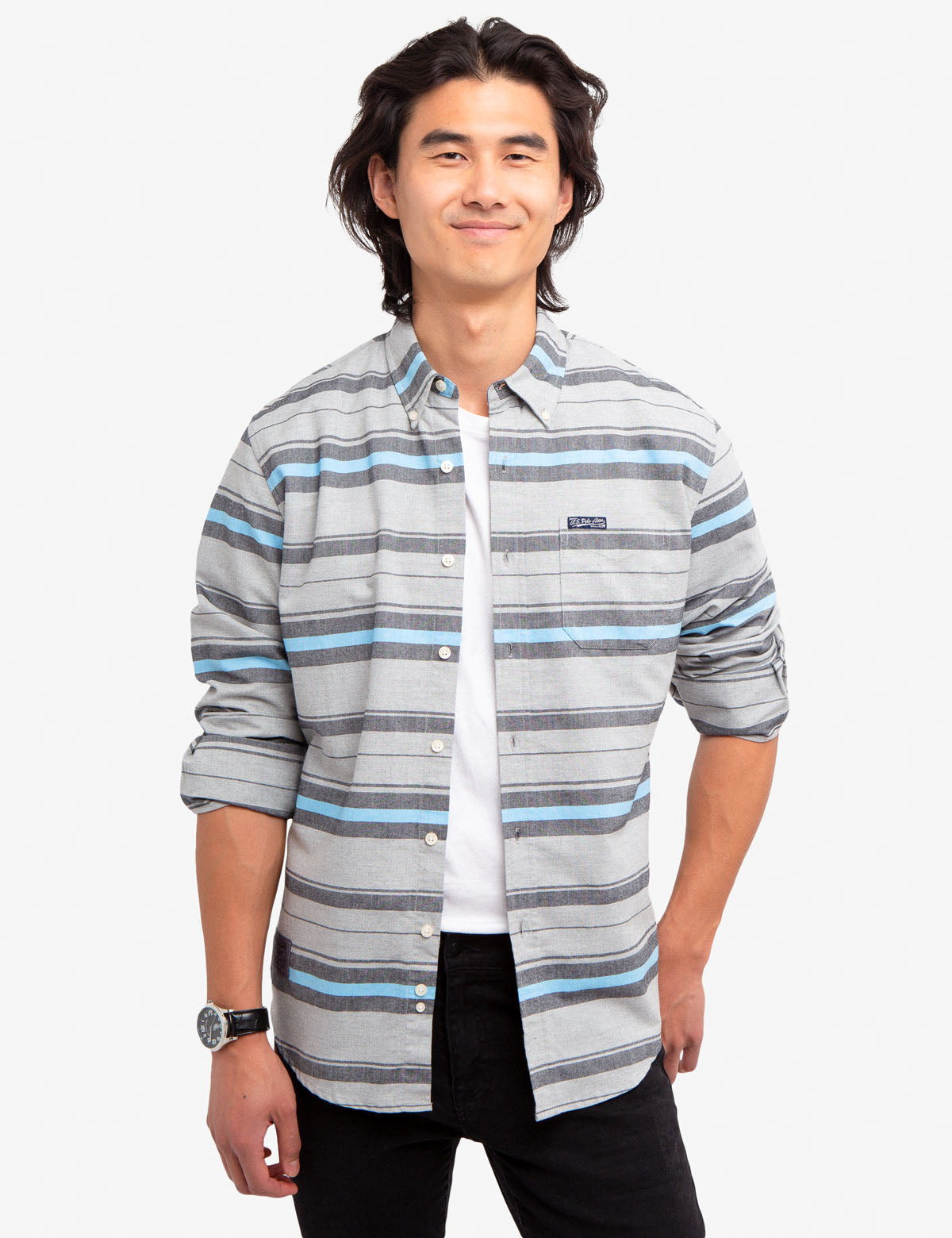 HORIZONTAL STRIPE OXFORD SHIRT