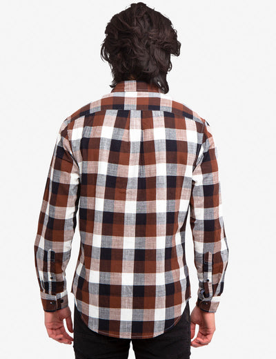SLUB POPLIN PLAID SHIRT - U.S. Polo Assn.