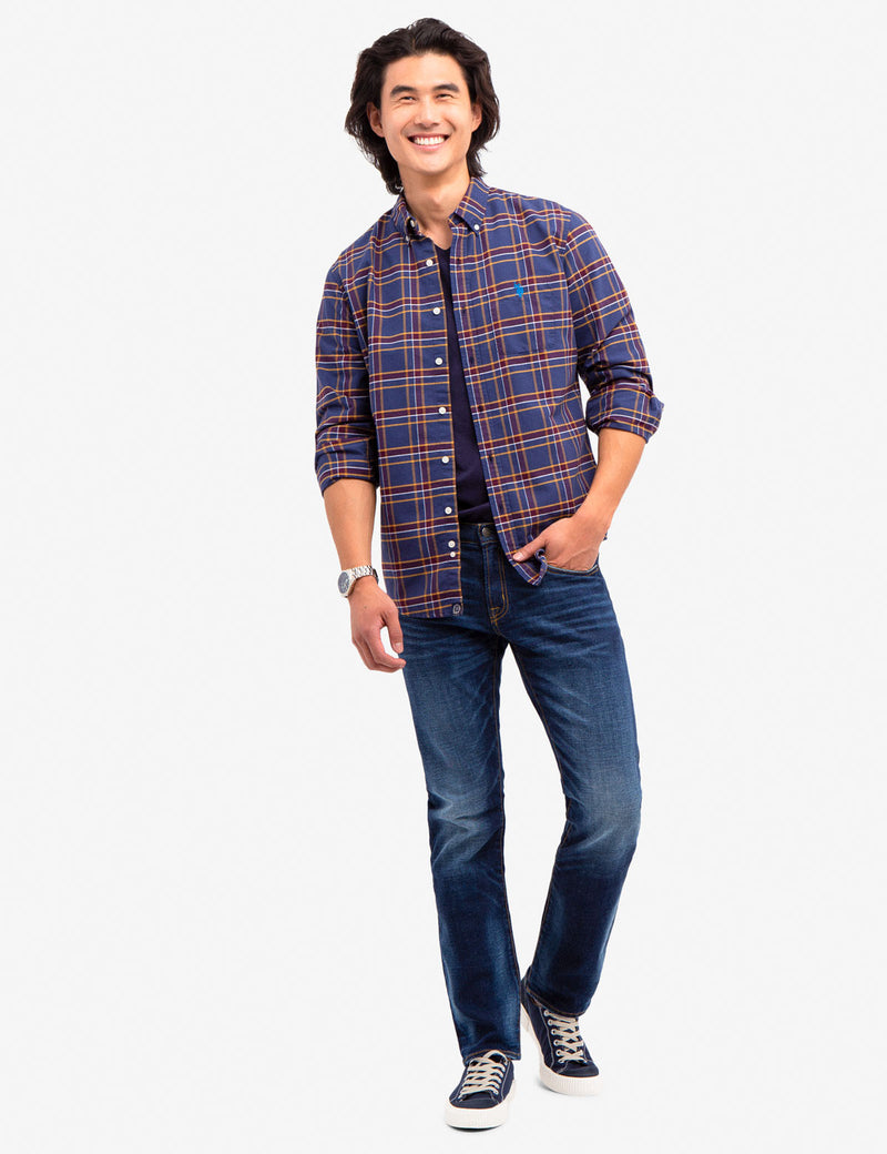 HEATHER PLAID OXFORD SHIRT - U.S. Polo Assn.