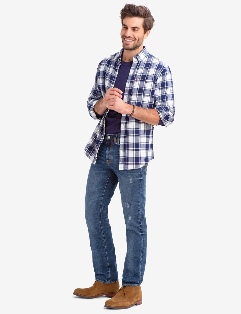 HERRINGBONE PLAID SHIRT - U.S. Polo Assn.