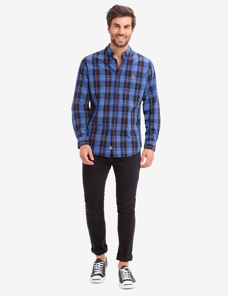 LARGE PLAID POPLIN SHIRT - U.S. Polo Assn.