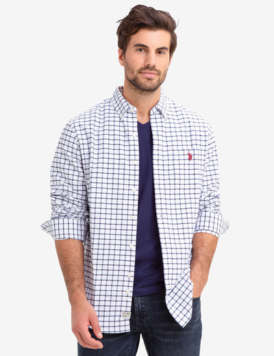 SMALL PLAID OXFORD SHIRT - U.S. Polo Assn.