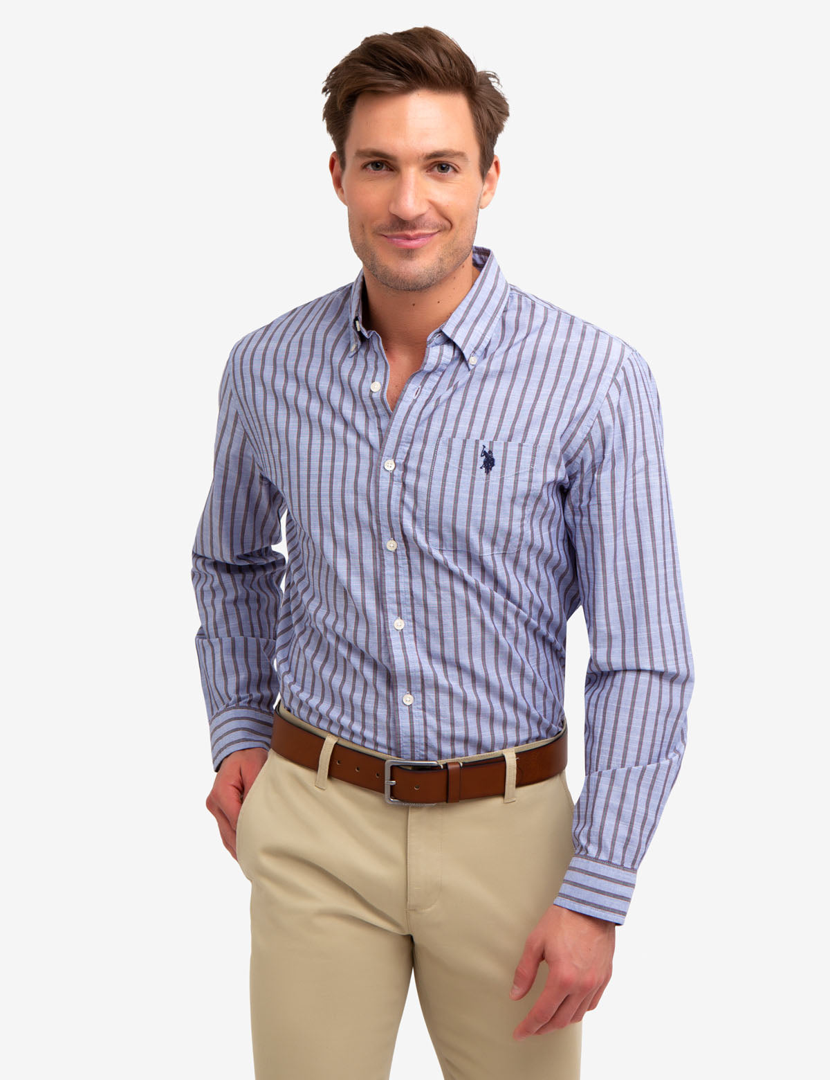 Vertical Dobby Striped Shirt - U.S. Polo Assn.