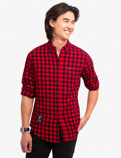 TWO POCKET MEDIUM PRINT SHIRT - U.S. Polo Assn.