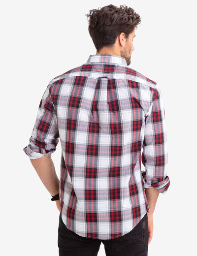 PLAID DOBBY POPLIN SHIRT - U.S. Polo Assn.