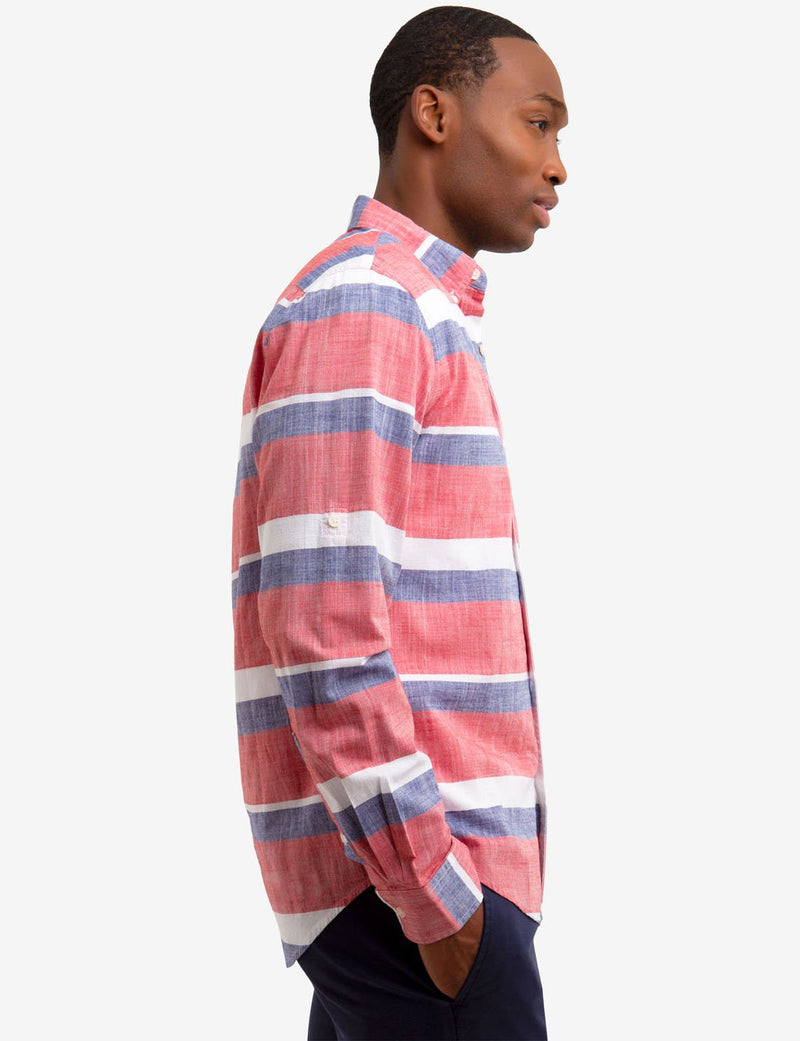 HORIZONTAL STRIPED SLIM FIT SHIRT