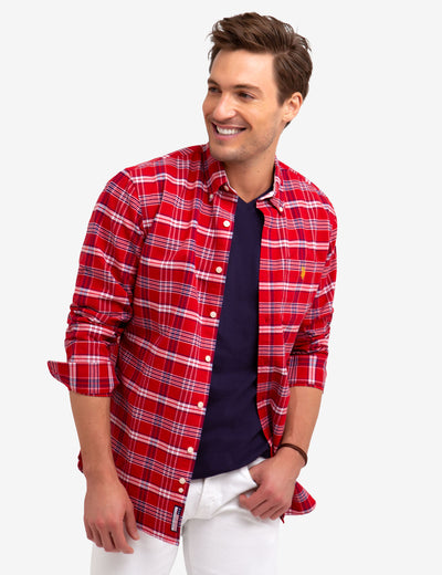 PLAID OXFORD SHIRT - U.S. Polo Assn.