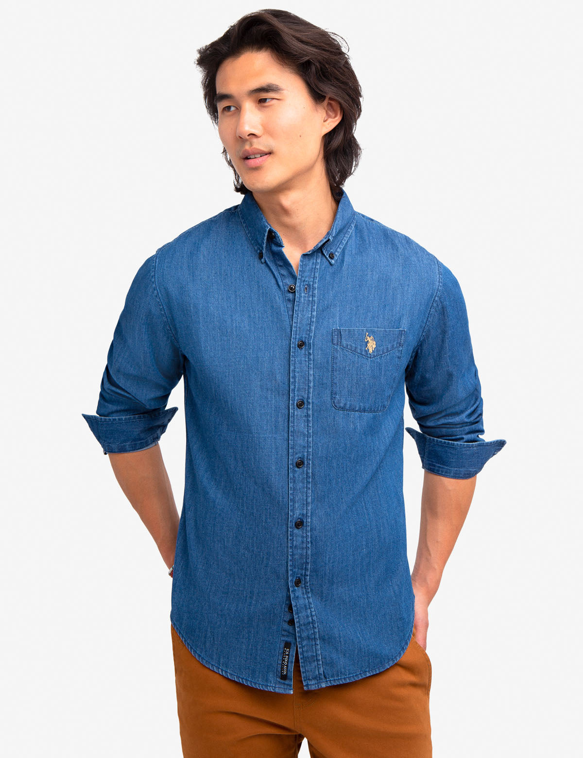 BLACK MALLET SLIM FIT DENIM SHIRT - U.S. Polo Assn.