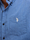 BLACK MALLET SLIM FIT DIAMOND PRINT SHIRT - U.S. Polo Assn.