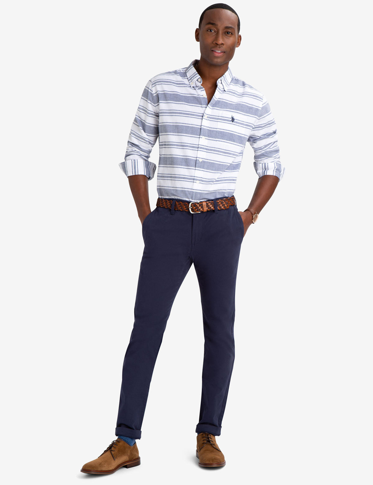 BLACK MALLET CLASSIC FIT HORIZONTAL STRIPE SHIRT - U.S. Polo Assn.