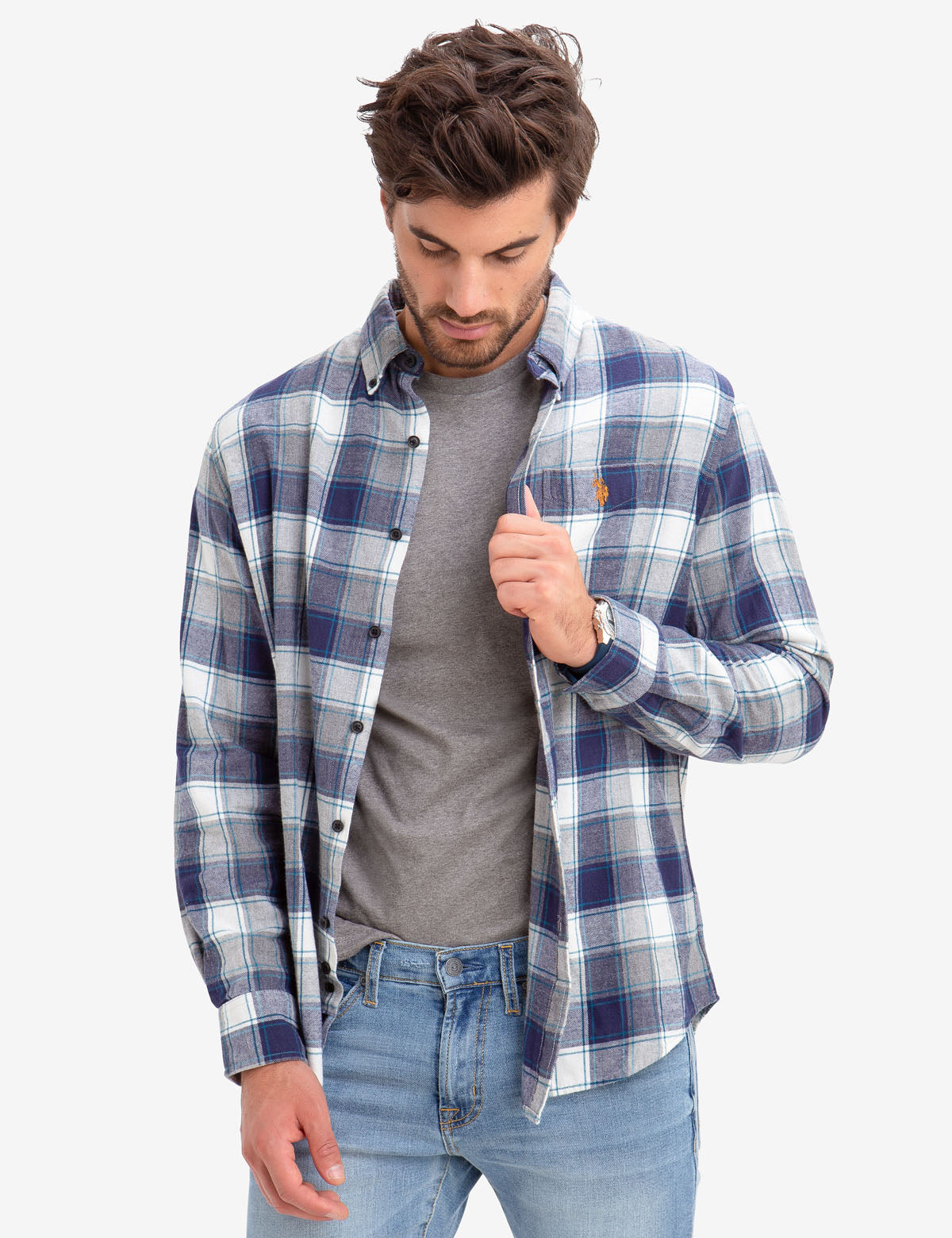 BLACK MALLET HEATHER PLAID SHIRT