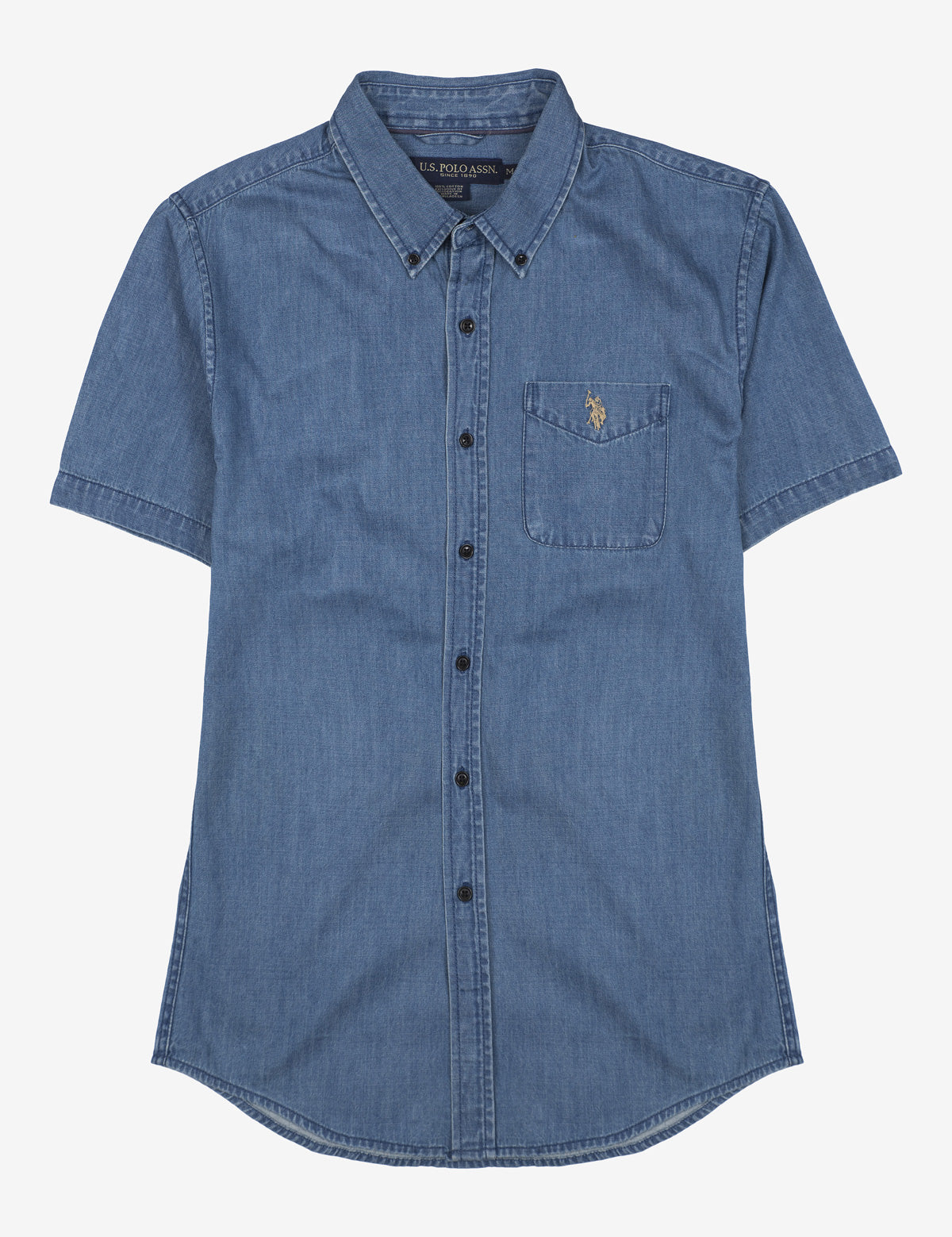 STRETCH SLIM DENIM SHIRT