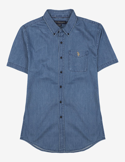 STRETCH SLIM DENIM SHIRT - U.S. Polo Assn.