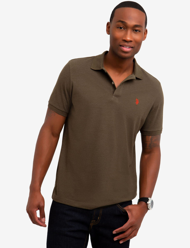 PIQUE SMALL LOGO POLO SHIRT