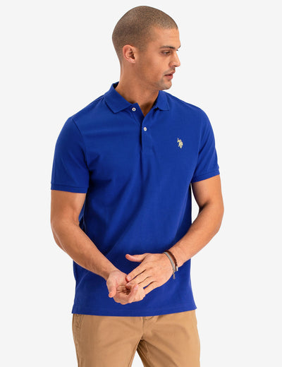 PIQUE SMALL LOGO POLO SHIRT - U.S. Polo Assn.
