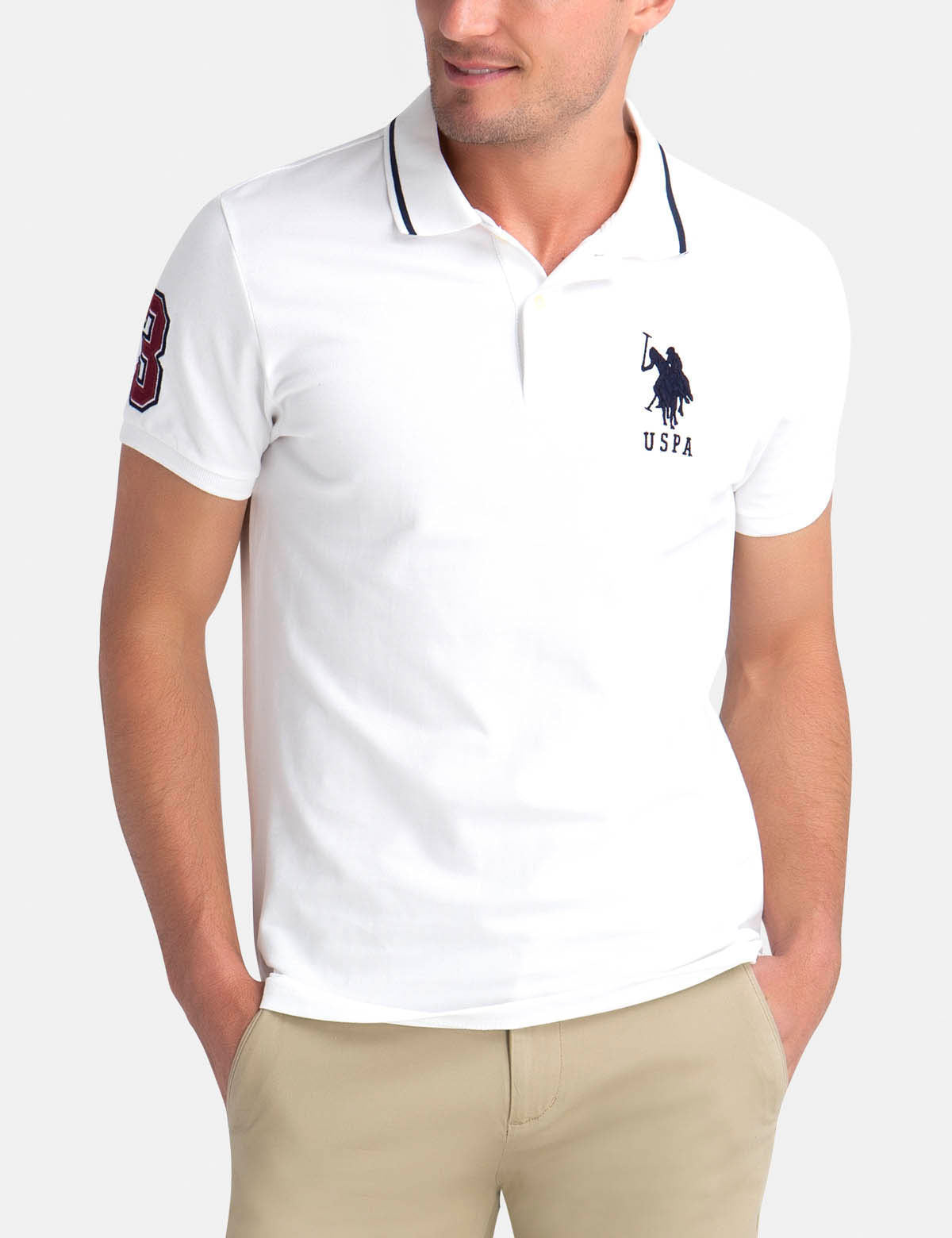 SLIM FIT BIG LOGO POLO SHIRT