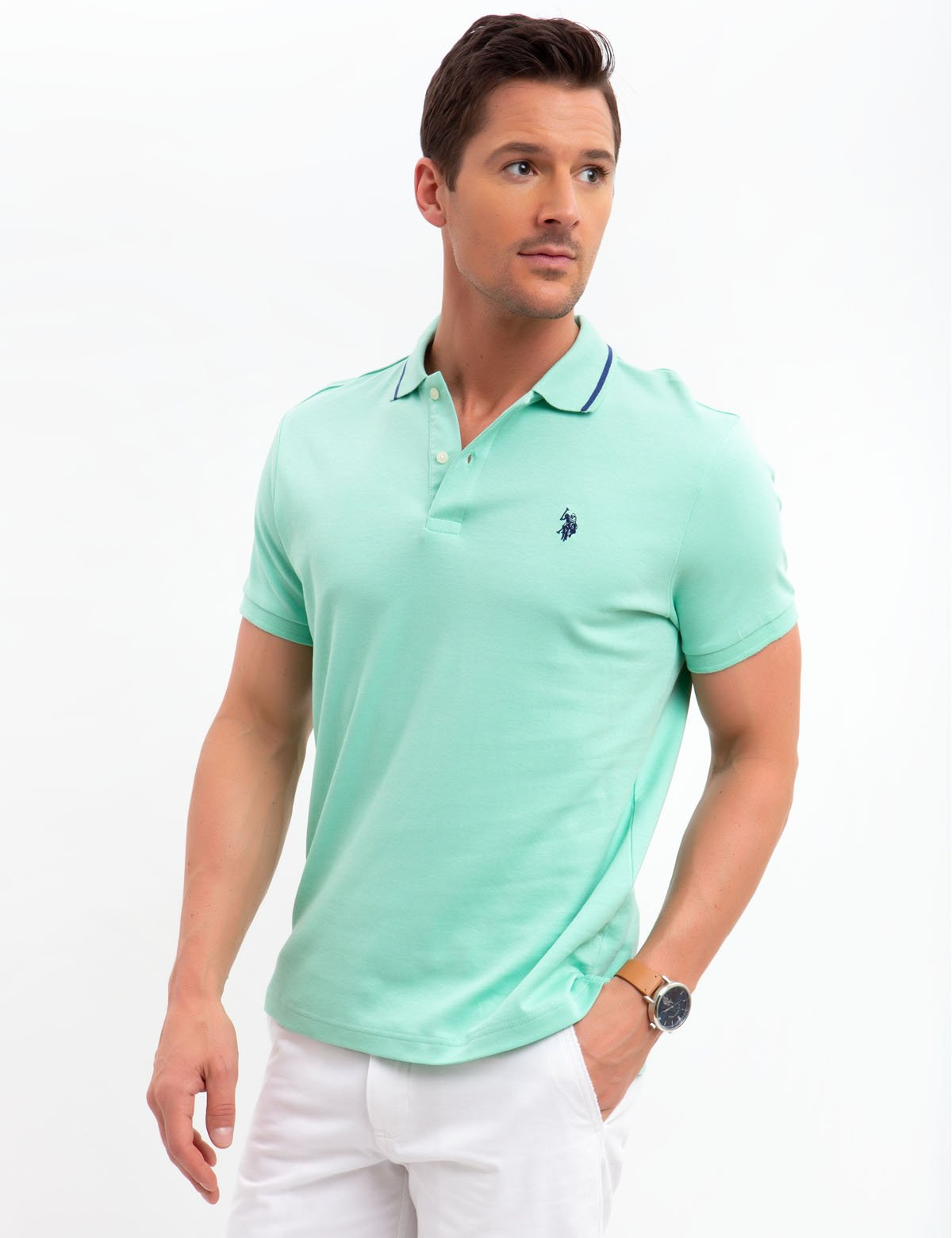 SLIM FIT INTERLOCK POLO SHIRT