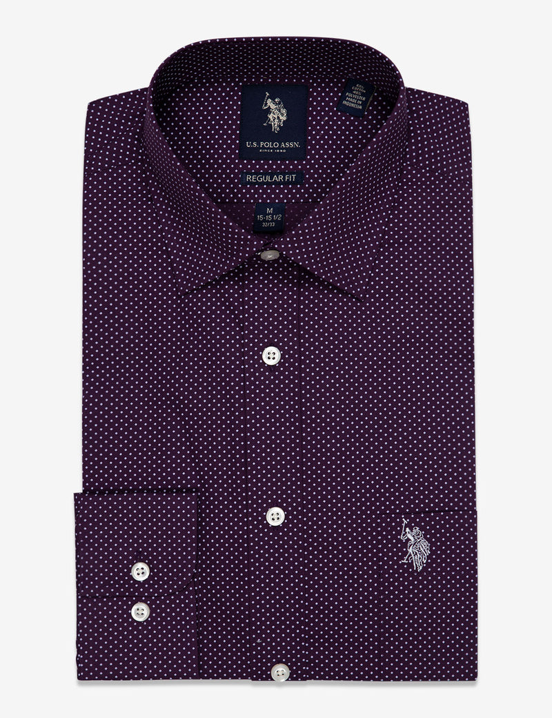 PIN DOT PRINT DRESS SHIRT