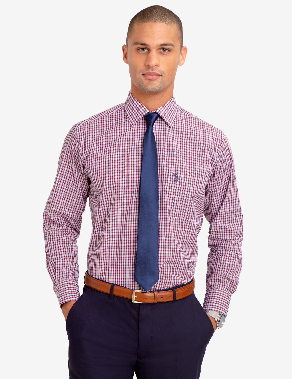 PLAID DRESS SHIRT - U.S. Polo Assn.