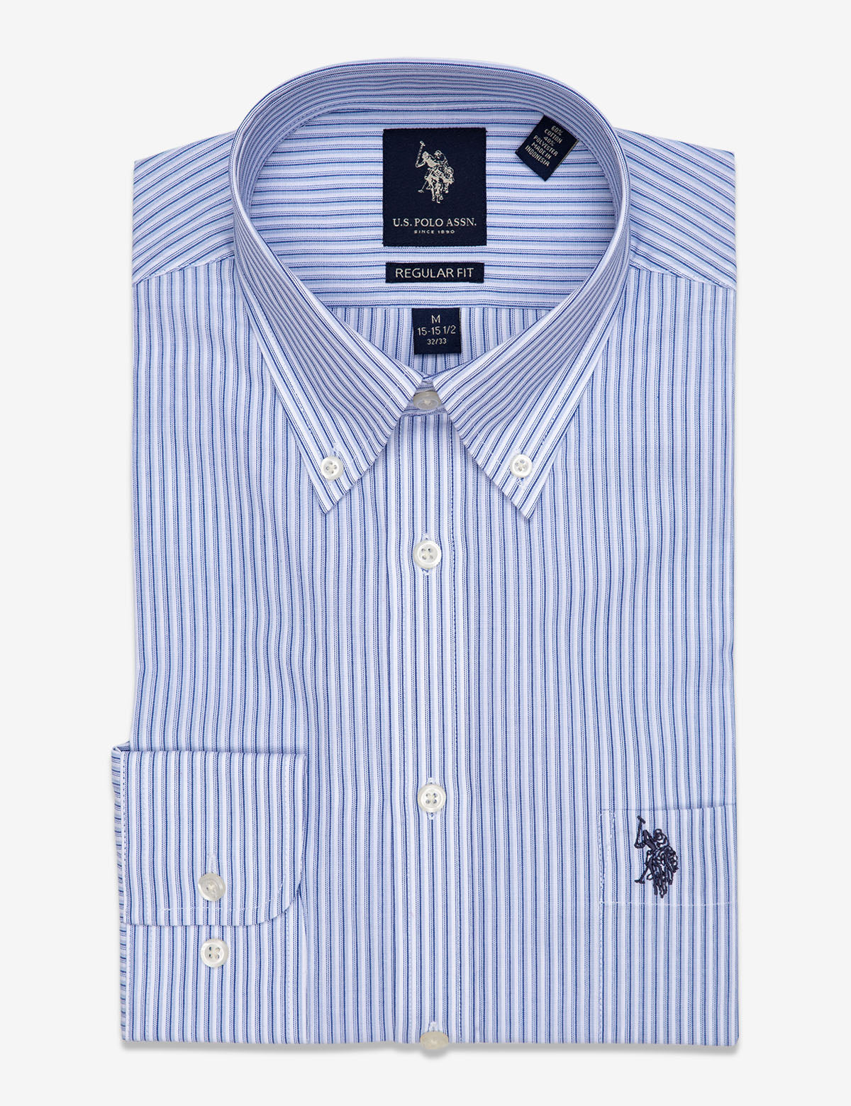 DOUBLE STRIPED DRESS SHIRT - U.S. Polo Assn.
