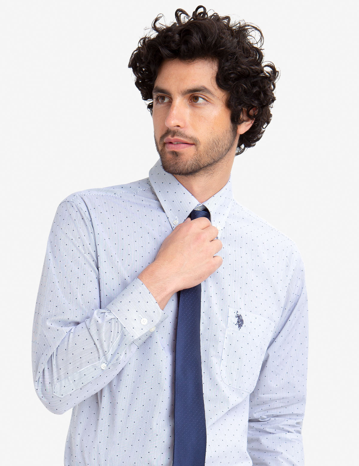 DOTTED & STRIPED DRESS SHIRT - U.S. Polo Assn.