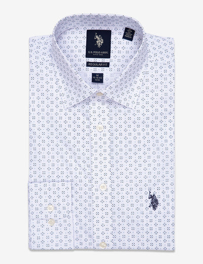 GEOMETRIC PRINT DRESS SHIRT - U.S. Polo Assn.