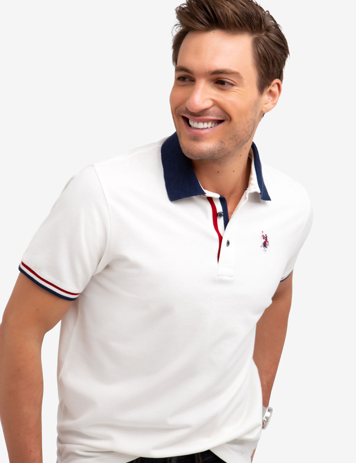 BIRDSEYE STRETCH PIQUE POLO SHIRT