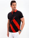 SLIM FIT STRETCH DIAGONAL POLO SHIRT - U.S. Polo Assn.