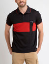 PATCHED COLORBLOCK POLO SHIRT