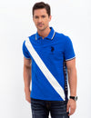 SLIM FIT BLACK MALLET DIAGONAL STRIPE POLO SHIRT - U.S. Polo Assn.