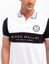 BLACK MALLET SLIM FIT, STRETCH PIQUE, COLORBOCK POLO SHIRT - U.S. Polo Assn.