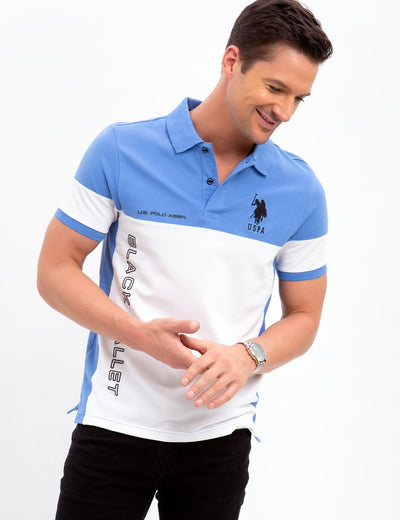 BLACK MALLET SLIM FIT STRETCH PIQUE POLO SHIRT - U.S. Polo Assn.