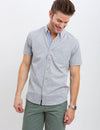 DOT BUTTON DOWN JERSEY SHIRT - U.S. Polo Assn.
