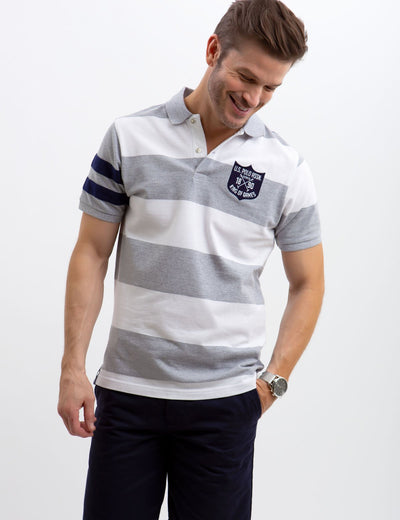 PATCH RUGBY POLO SHIRT