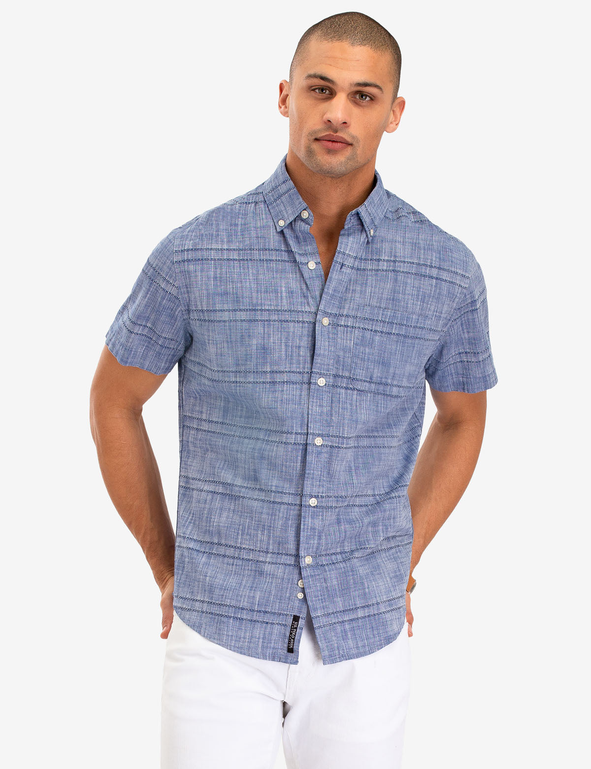 STRIPED DOBBY SHORT SLEEVE SHIRT - U.S. Polo Assn.