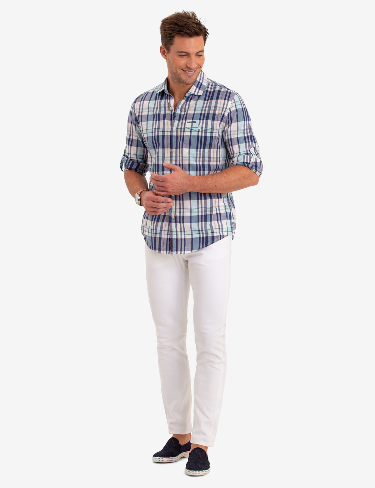 MADRAS PLAID LONG SLEEVE SHIRT