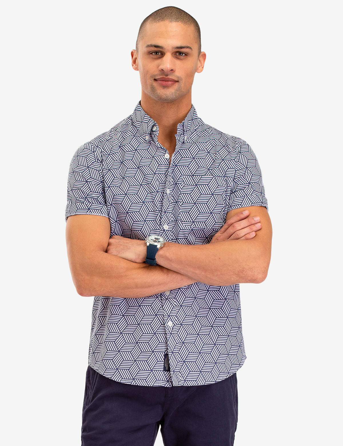 GEOMETRIC PRINT SHORT SLEEVE SHIRT - U.S. Polo Assn.