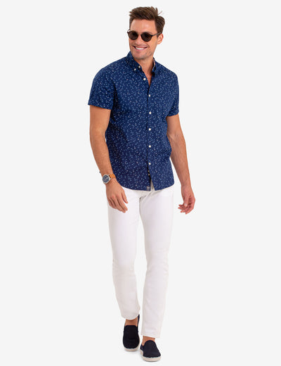 BIRD PRINT SHORT SLEEVE SHIRT - U.S. Polo Assn.