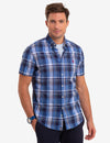 LARGE MADRAS PLAID SHORT SLEEVE SHIRT - U.S. Polo Assn.
