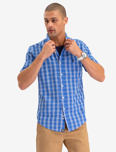 PLAID SHORT SLEEVE SHIRT - U.S. Polo Assn.