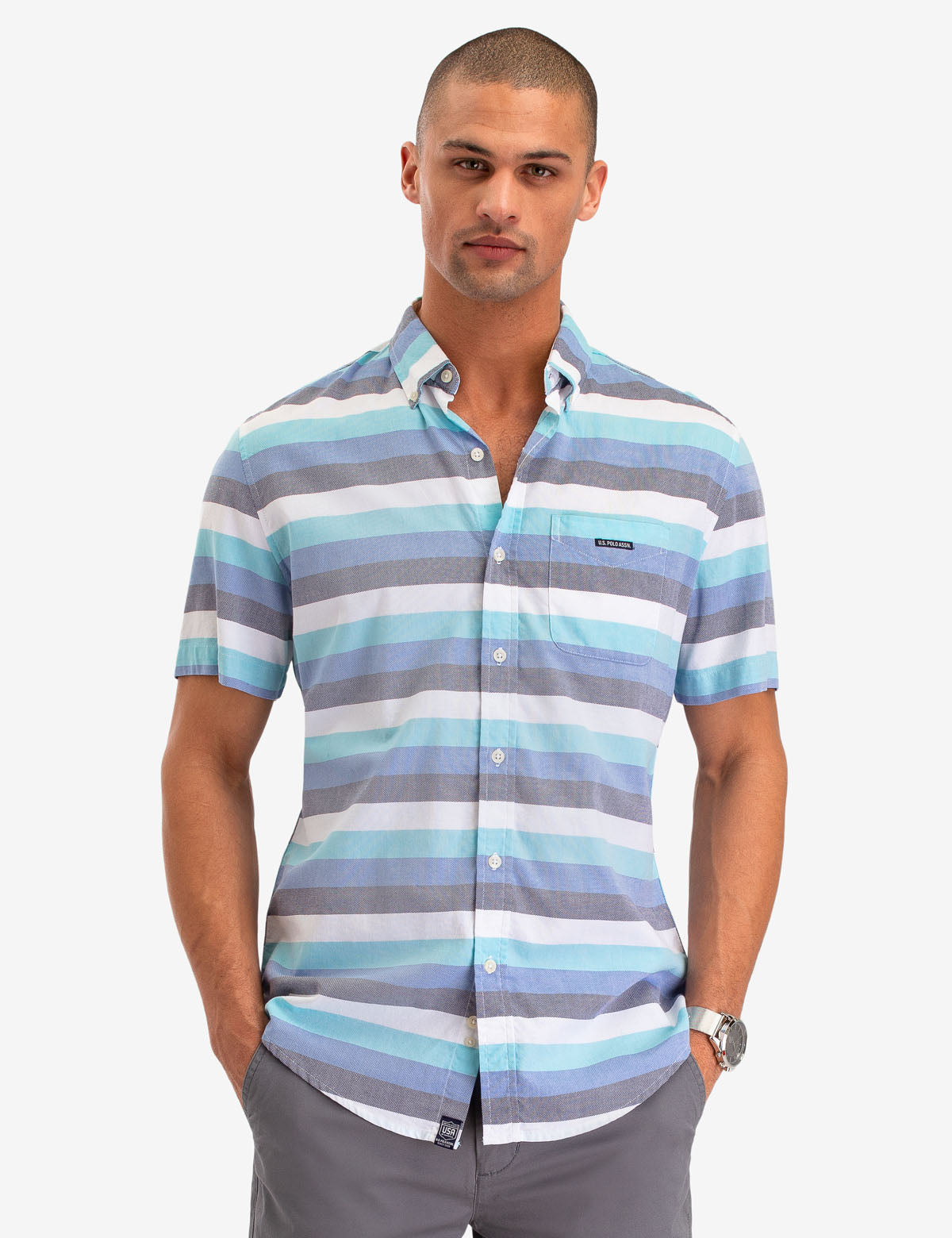 SHORT SLEEVE OXFORD SHIRT - U.S. Polo Assn.